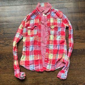 Hollister plaid button down shirt